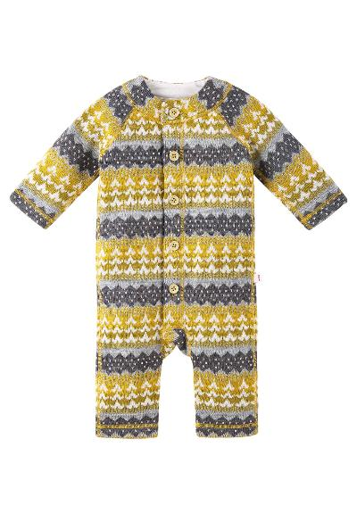 Wool babies' romper suit Lyhde Dark yellow