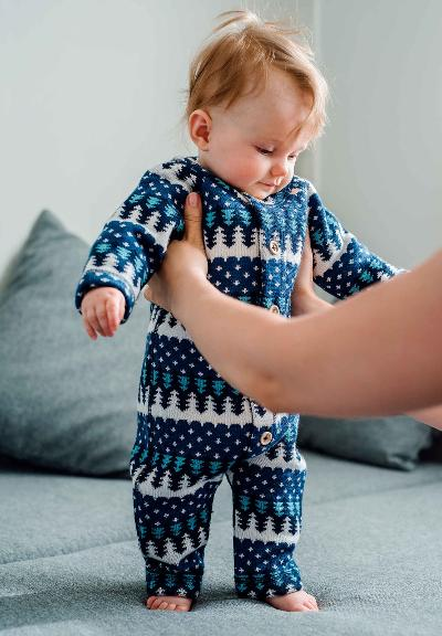 Ulldress til baby Lyhde Navy