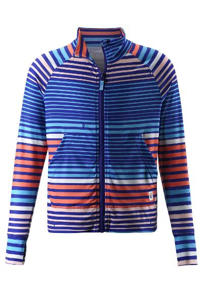 Kids' zip-up sweat top Block Bright salmon