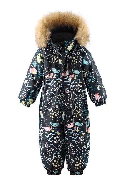 Toddlers' winter snowsuit Lappi Black