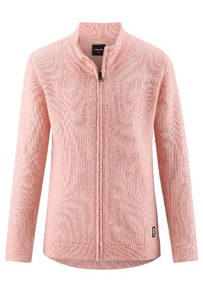 Kids' wool sweat jacket Noshaq Powder pink
