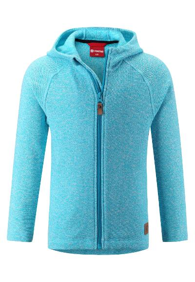 Kids' knit fleece jacket Haiko Cyan blue