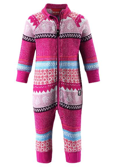 Toddlers' fleece all-in-one Myytti Raspberry pink