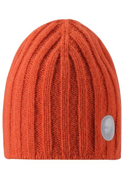 Kids' wool beanie Tuuhea Foxy orange