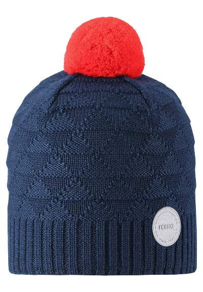 Kids' wool beanie Longevity Navy