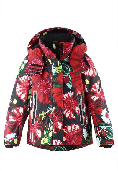 Kids' ski jacket Roxana Tomato red