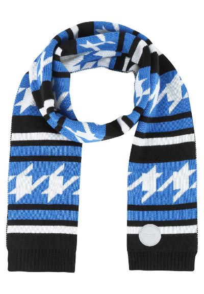 Kids' wool-mix scarf Iisko Marine blue