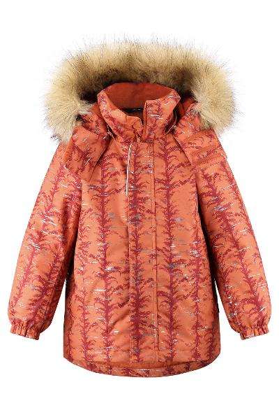 Kids' reflective winter jacket Sprig Foxy orange