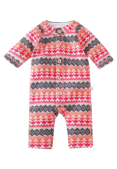Wool babies' romper suit Lyhde Bright salmon