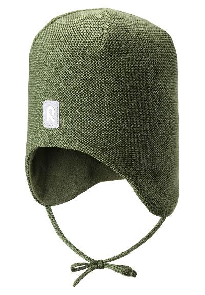 Toddlers' wool beanie Hopea Khaki green