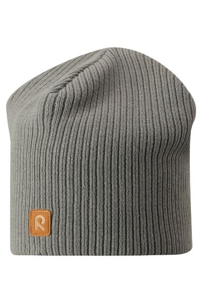Kids' cotton beanie Lahti Clay grey