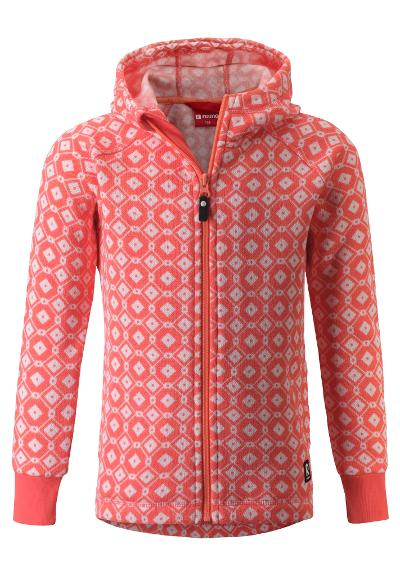 Kinder Strickfleecejacke Northern Bright salmon