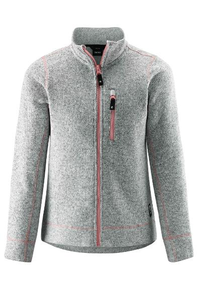 Kinder Fleecejacke Maaret Melange grey