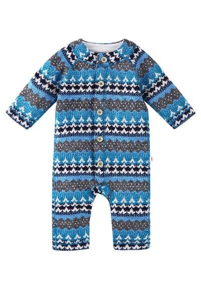 Wool babies' romper suit Lyhde Icy blue