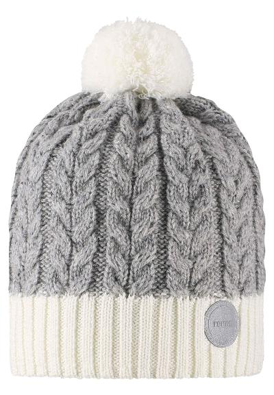 Kids' wool-mix beanie Pohjola White