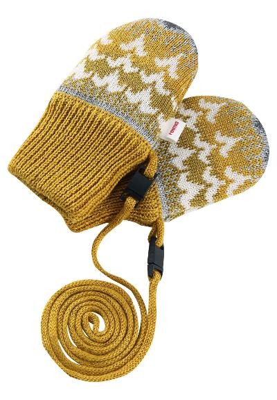 Babies' mittens Tresor Dark yellow