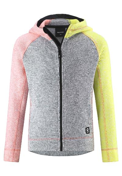 Kids' fleece hoodie Lively Melange grey