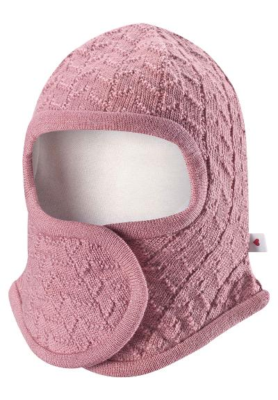 Balaklava til baby Littlest Dusty rose