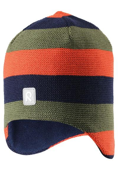 Kids' wool beanie Huurre Khaki green