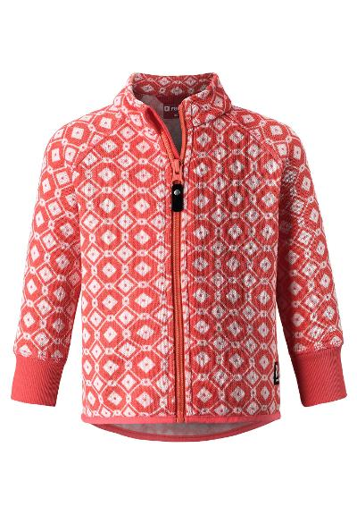 Kleinkinder Fleecejacke Ornament Bright salmon