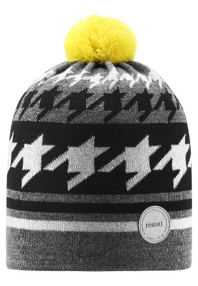 Kids' wool-mix beanie Kohva Melange grey