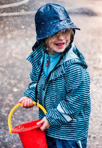 Kids' rain jacket Vesi Navy