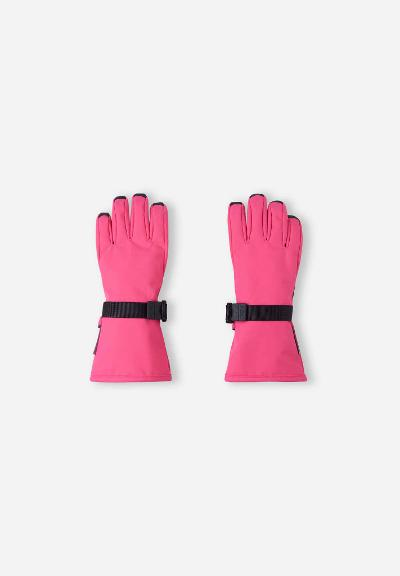 Kids' waterproof gloves Pivo Fuchsia pink