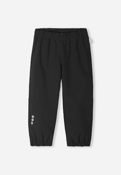 Kids' softshell trousers Oikotie Black