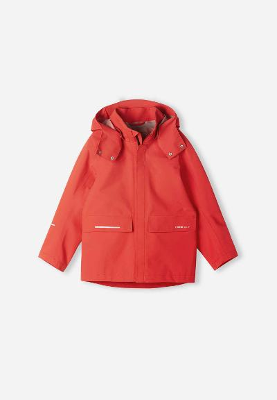 Kids' recyclable jacket Voyager Tomato red