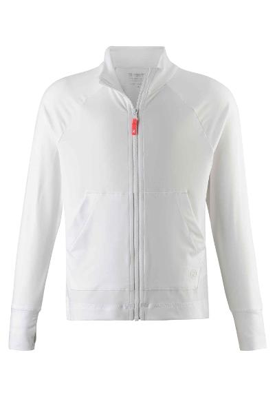Kinder Sweatjacke Block   White