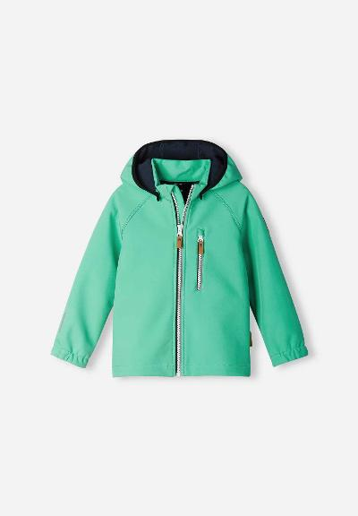 Barn softshell jacka Vantti Reef green