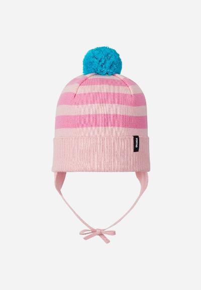 Kids' cotton beanie Lounatuuli Soft pink