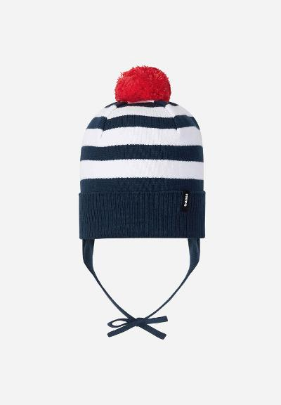 Kids' cotton beanie Lounatuuli Navy
