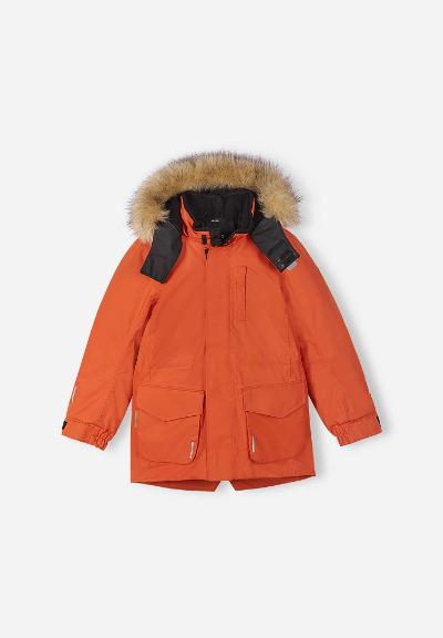 Kinder Winterjacke Naapuri Foxy orange