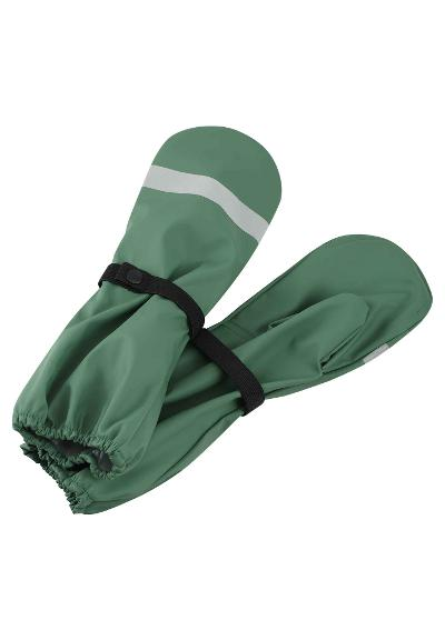 Kids' rain mittens Kura Forest green