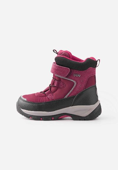 Kids' winter ankle boots Denny Dark berry