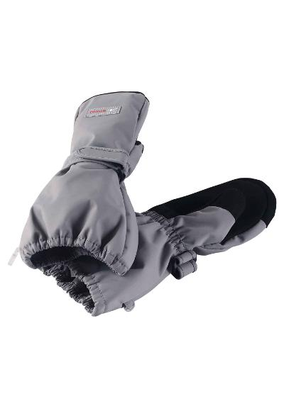Waterproof kids' mittens Askare Soft grey