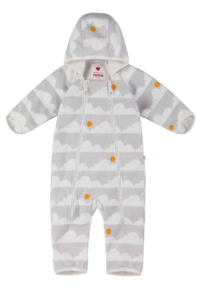 Windfleece-dress baby Tilhi Light grey