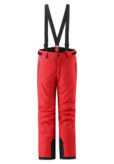 Kids' ski trousers Takeoff Tomato red