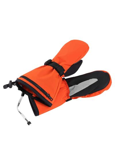 Kids' ski mittens Riggu Orange