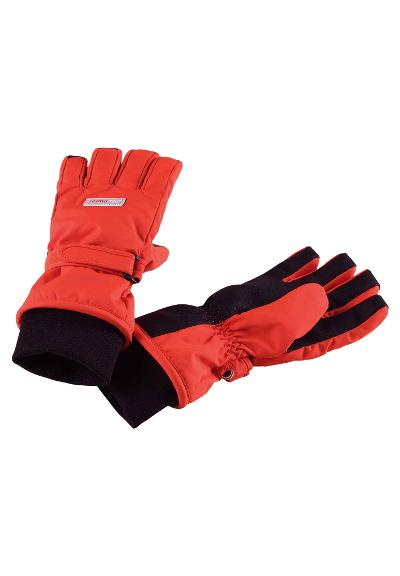 Reimatec kids' waterproof winter gloves Tartu Flame red