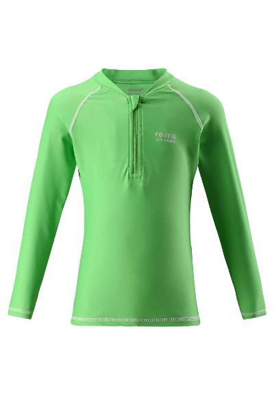 Toddlers' long-sleeve swim top Solomon Summer green