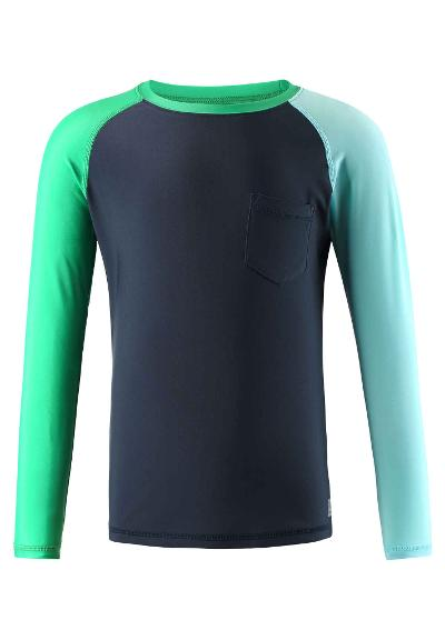 Kids' long sleeve swim shirt Tioman Navy