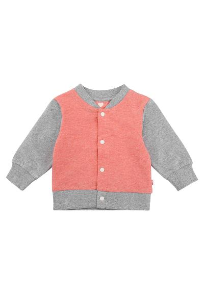 Toddlers' buttoned sweater Maalis Coral Pink