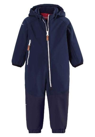 Toddlers' softshell jumpsuit Mjosa Navy