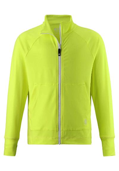 Kids' zip-up sweat top Brygge Neon green