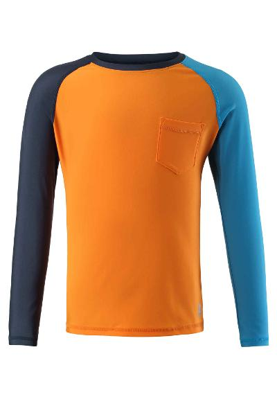 Kids' long sleeve swim shirt Tioman Orange