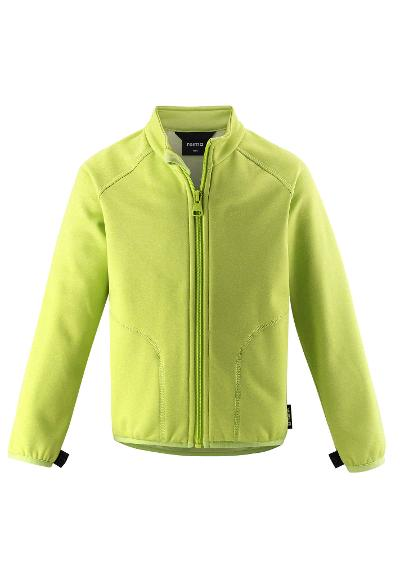 Kids' sweat jacket Toimiva Lime green