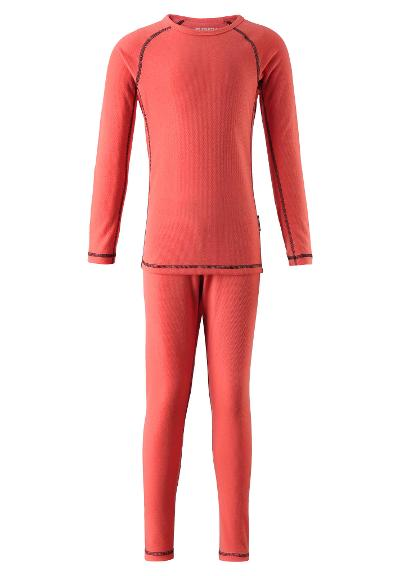 Kids' thermal underwear set Lani Bright salmon