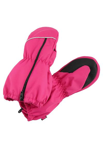 Toddlers' waterproof mittens Litava Raspberry pink